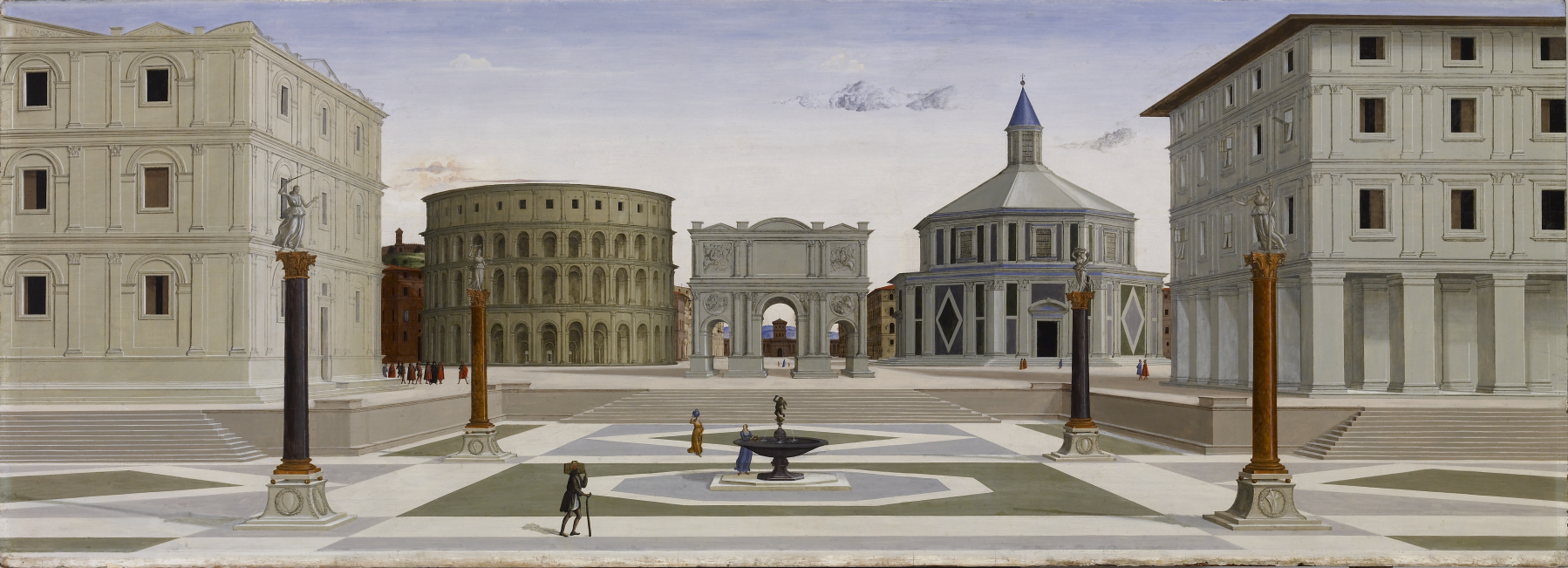 The Ideal City of Baltimore, Fra Carnevale or Leon Battista Alberti, c. 1480-1484.
